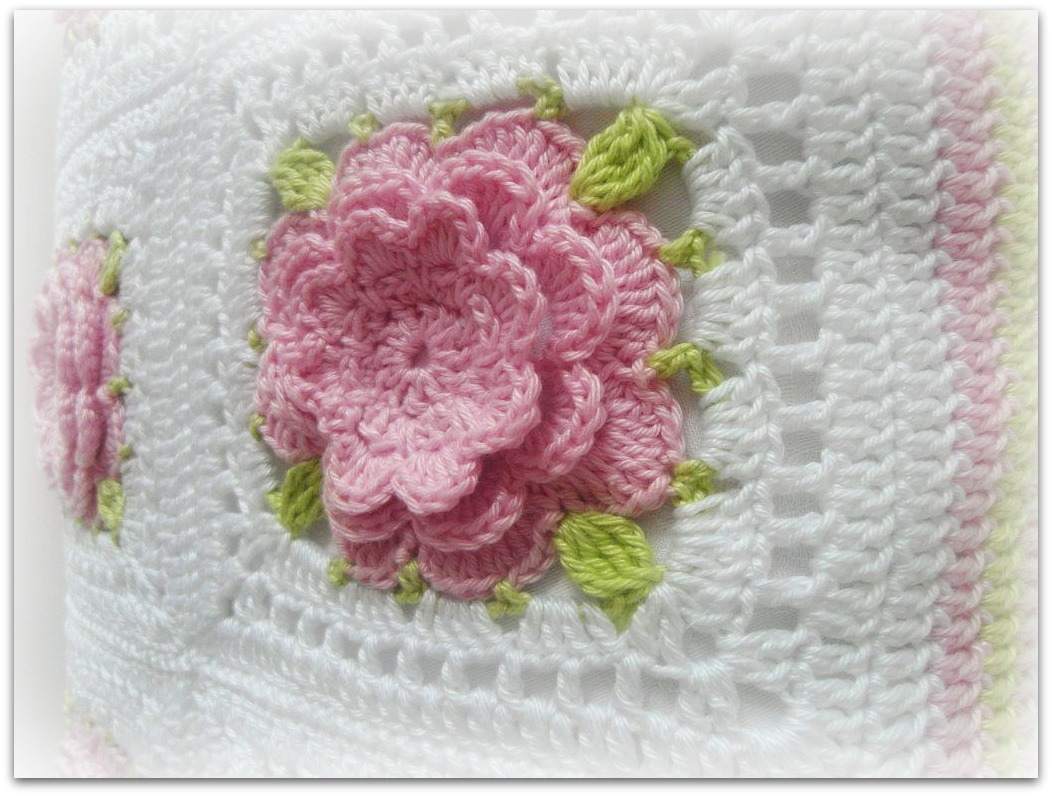 Crochet Rose Afghan Pattern : crochet roses afghan