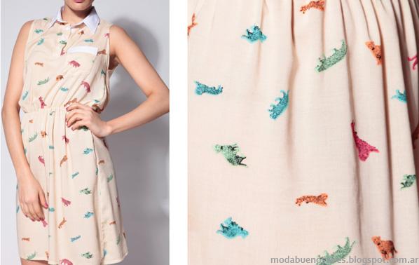 Vestidos cortos moda verano 2014, colección Jungla verano 2014 Banderines.