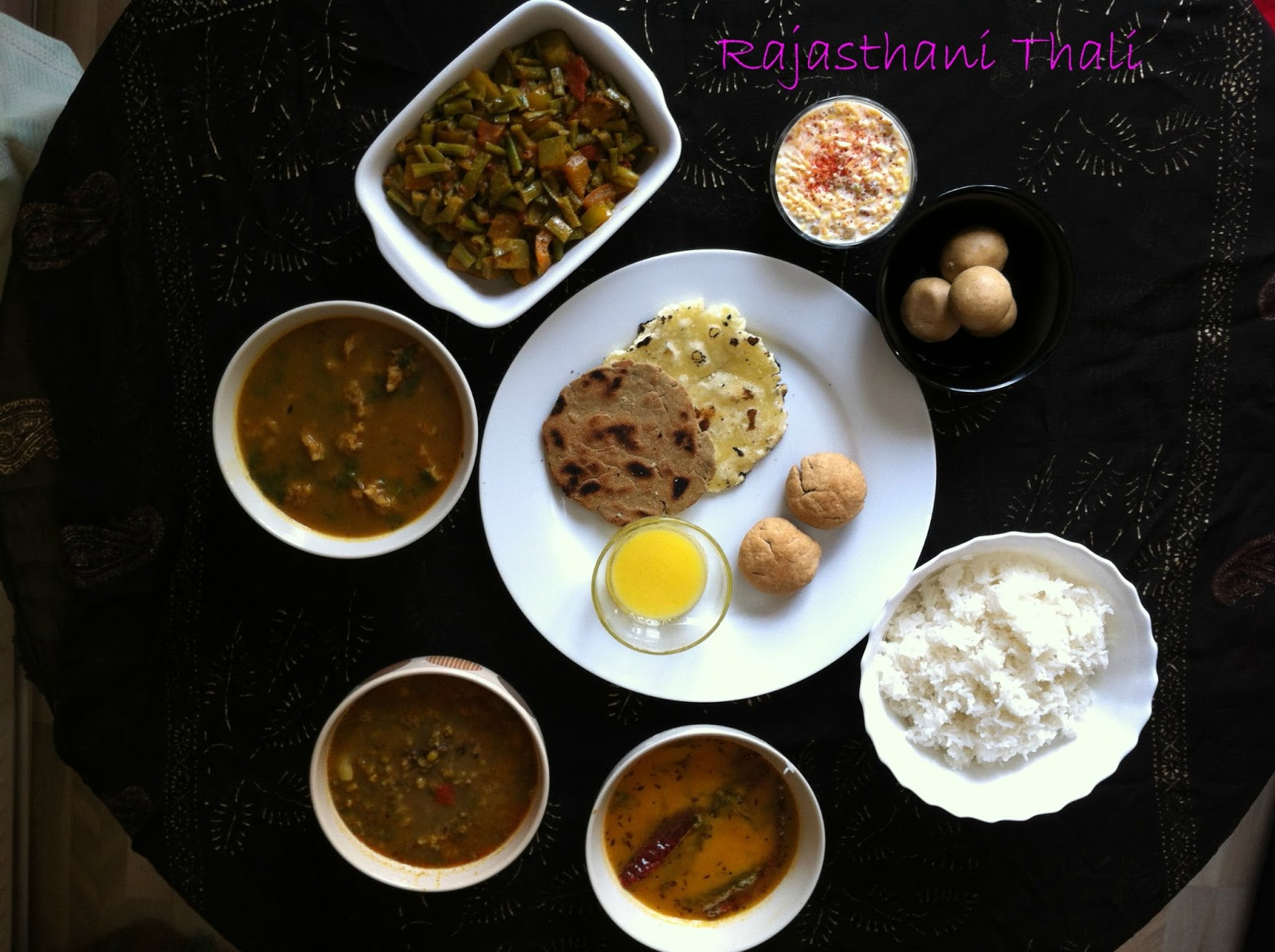 Saranis kitchen rajasthani thali thanks for manjula for this wonderful recipe first time am tasting rajastani recipes i simply loved ite best part in rajastani thali is i didnt use forumfinder Choice Image