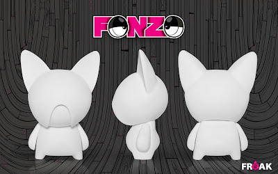 Do-It-Yourself Blank White Fonzo 6 Inch Vinyl Figure by Freak Store