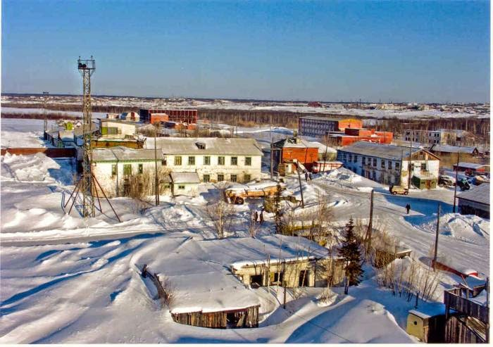 Igarka Airport, Russia - covered in snow
