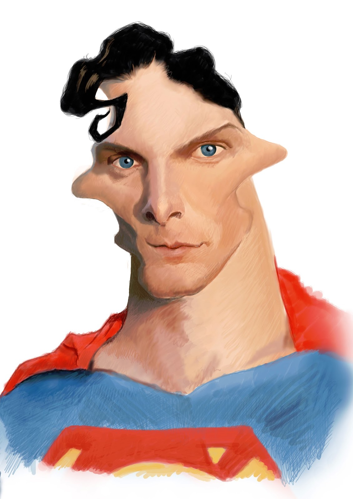 Steve roberts caricatures 2013 superman caricature for wittygraphy voltagebd Images