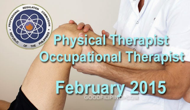 The February 2015 Physical Therapists Board Exam Results - Physical Therapist Licensure Examination Feb.2015