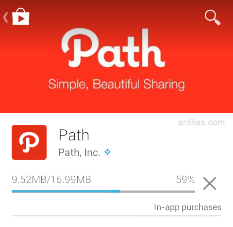 Cara Download & Install Aplikasi Path - Android - Proses download dan install
