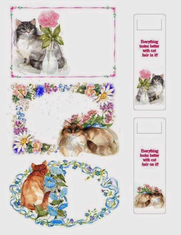 Tarjetas de Gatos para Imprimir Gratis.