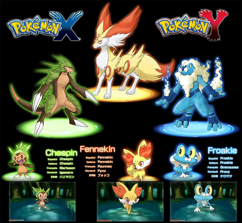 THE BRAND NEW POKEMON SEREIS POKEMON X AND Y