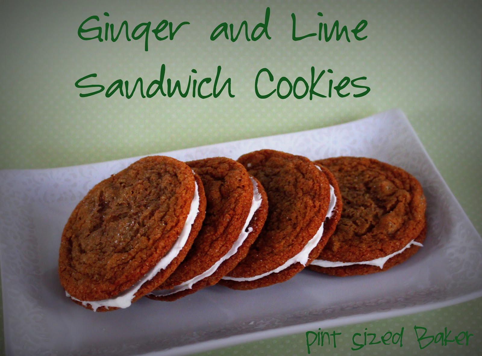 Ginger Snap Cookies And Lime Sandwiches Pint Sized Baker