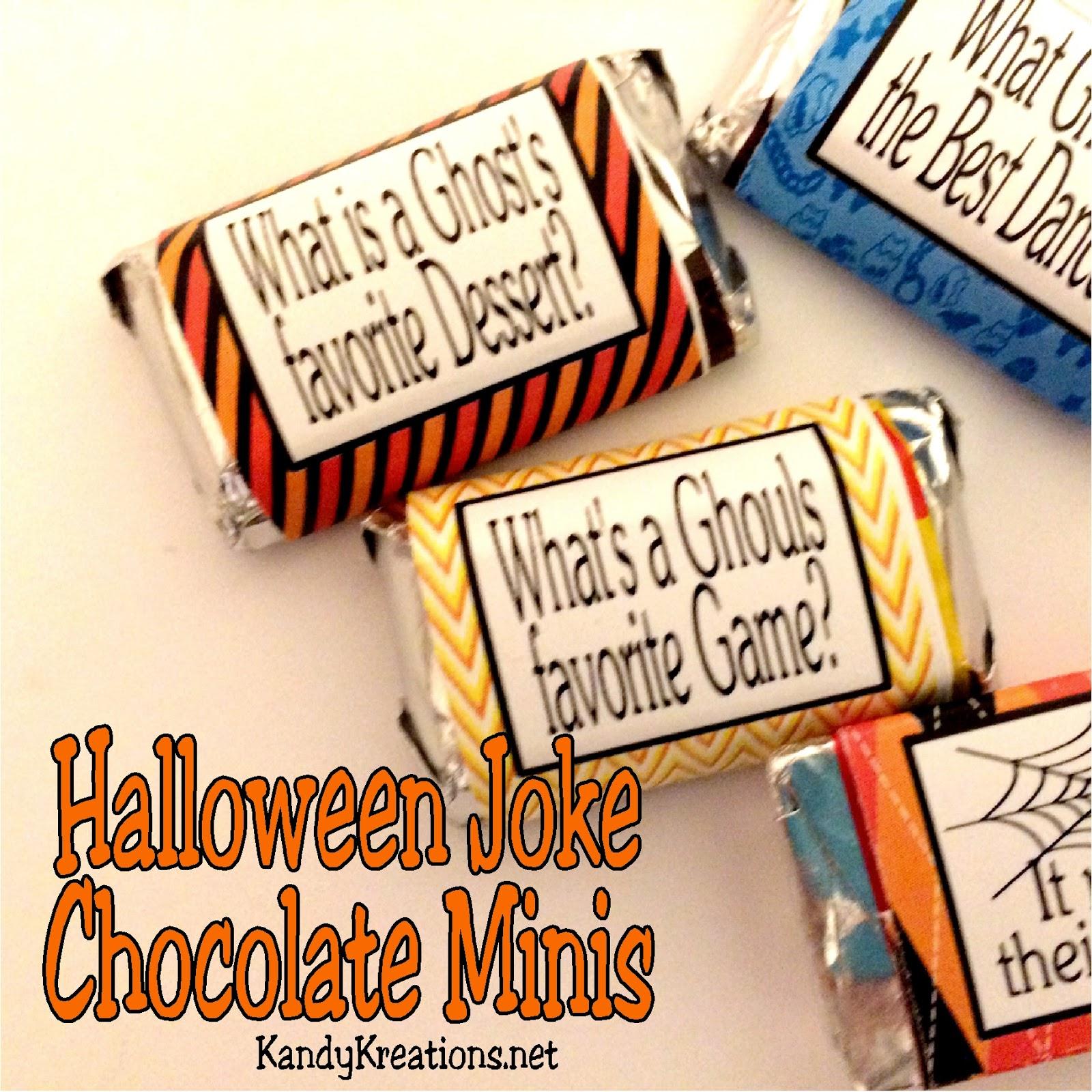 Halloween Joke Miniature Chocolate Wrapper Printables   Everyday ...