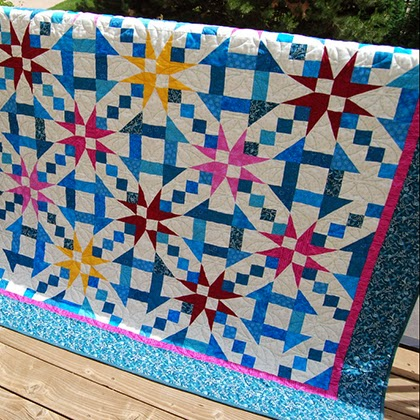 Churn Dash & Stars Quilt Pattern