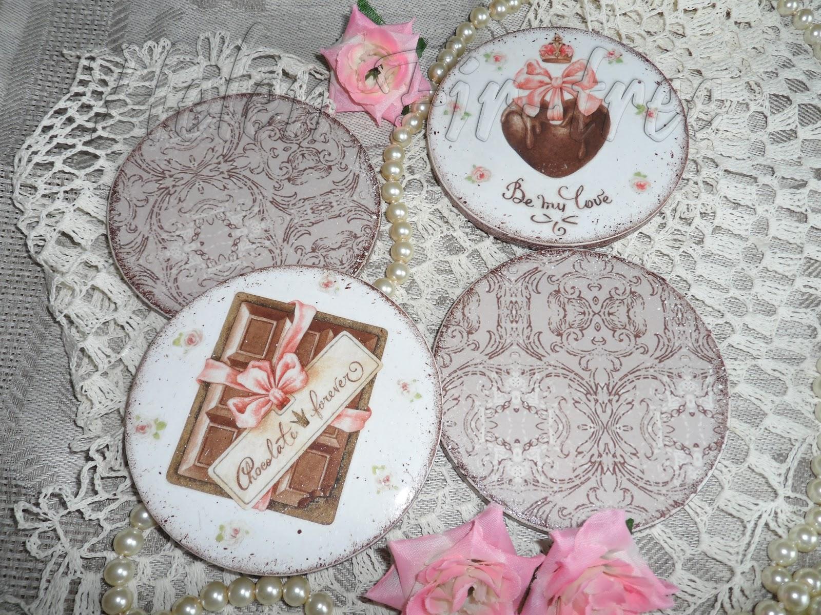 """Helen Fir-tree декупаж комплект """"Шоколадное настроение"""" decoupage set """"Chocolate Mood"""""""