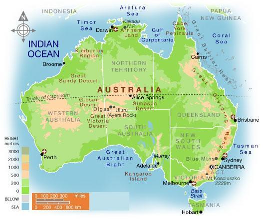 Carte de australie departement r gion carte du monde for Minimalist living guide pdf