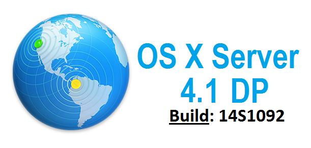 Download OS X Server 4.1 DP (14S1092) Update .DMG File via Direct Link