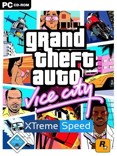 GTA Vice City Xtreme Speed Game Poster | GTA Vice City Xtreme Speed Game Cover