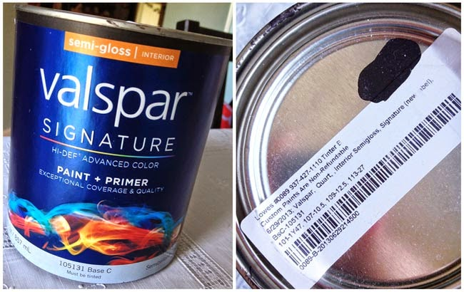 Valspar Signature paint, bathroom cabinet painting, color matching