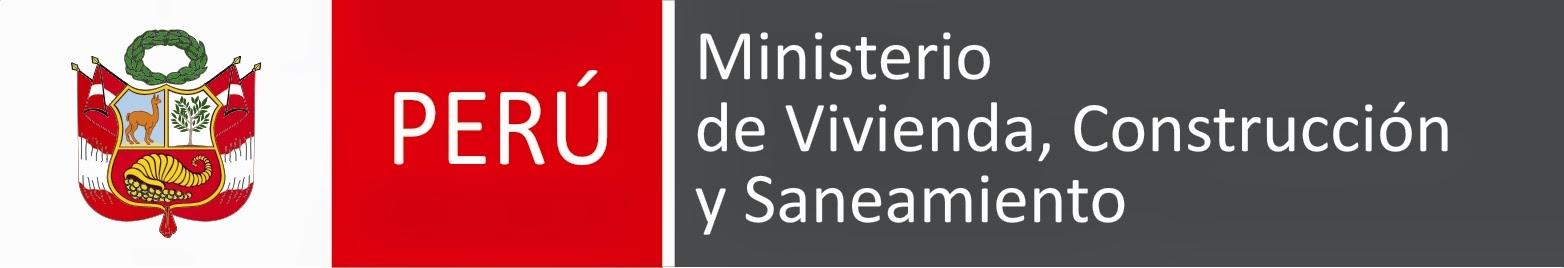 Logo Ministerio de Vivienda, Construcción y Saneamiento