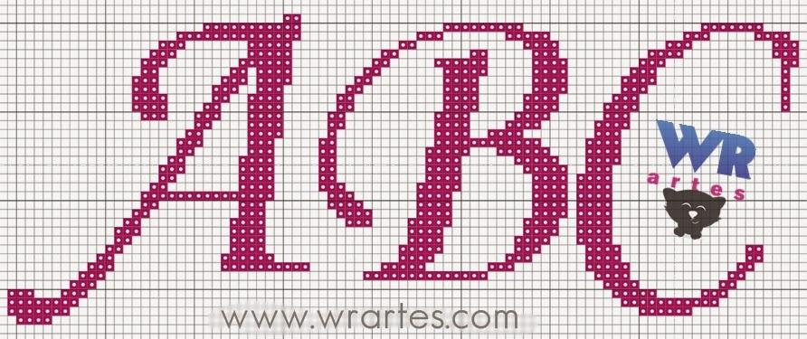 Alfabeto Ponto Cruz Letras Cursivas Gráfico Alfabeto Letra Cursiva