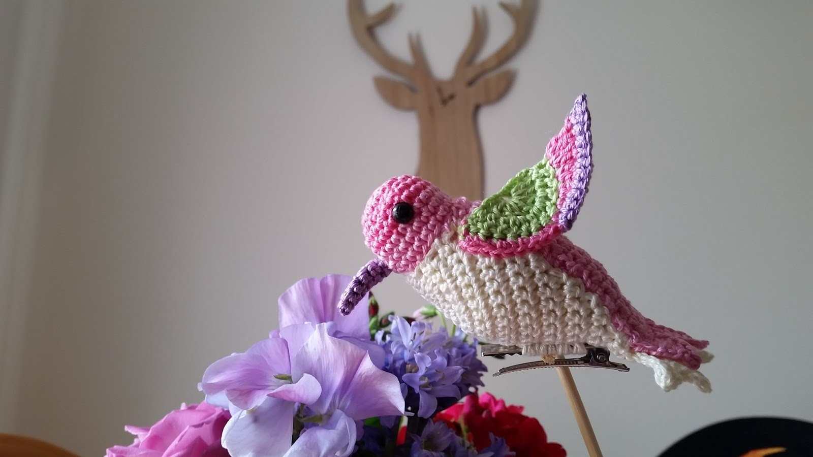 Red Haired Amazona: Pearly the Hummingbird Amigurumi Crochet Pattern