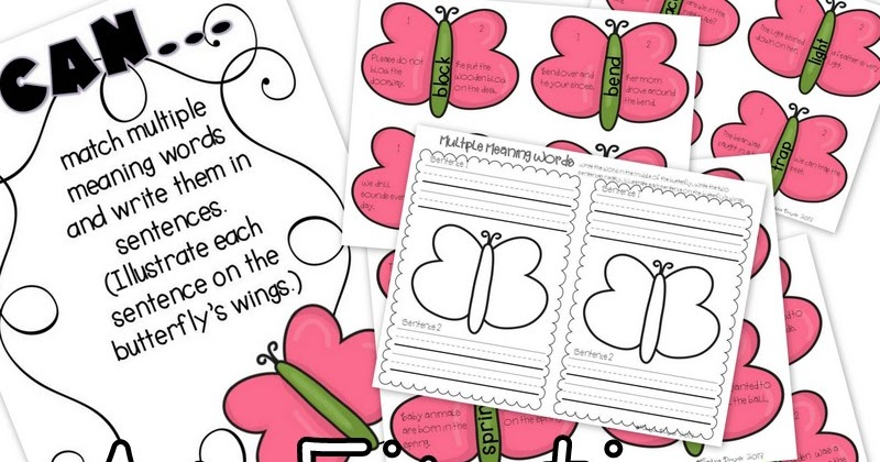 Exploring Multiple Meaning Words - and a Freebie   Multiple ...