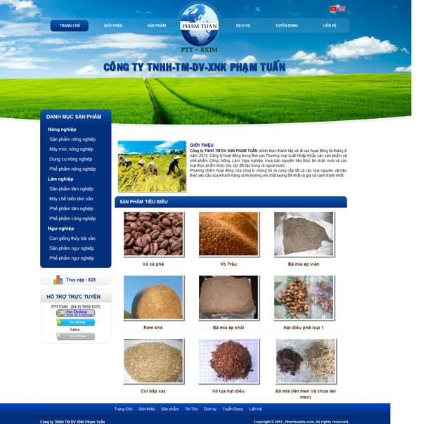 thiết kế website nông nghiệp