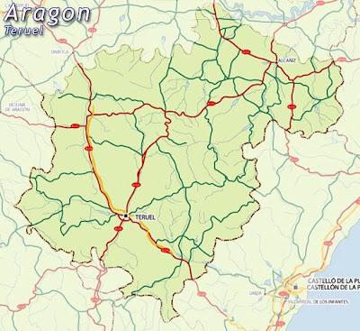 Teruel Mapa Ciudad de la Región