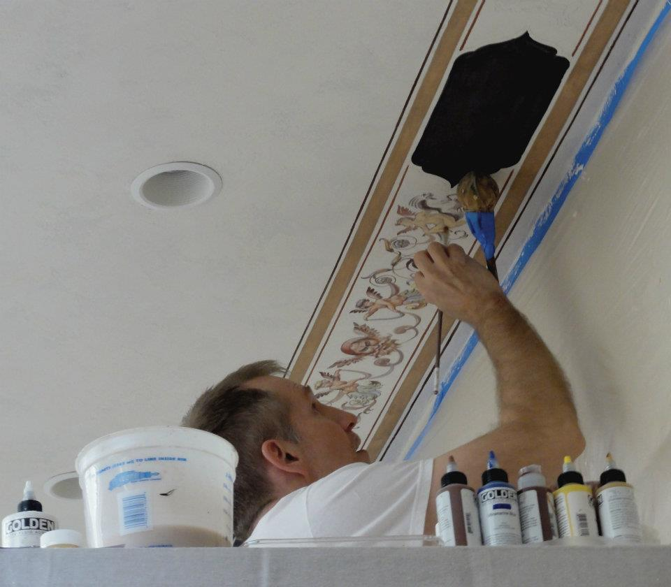 Jeff huckaby art blog june 2013 for Ceiling mural painting techniques