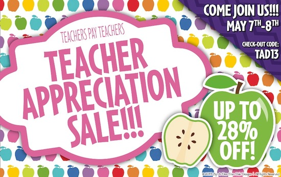 Kindercraze Teacher Appreciation Sale
