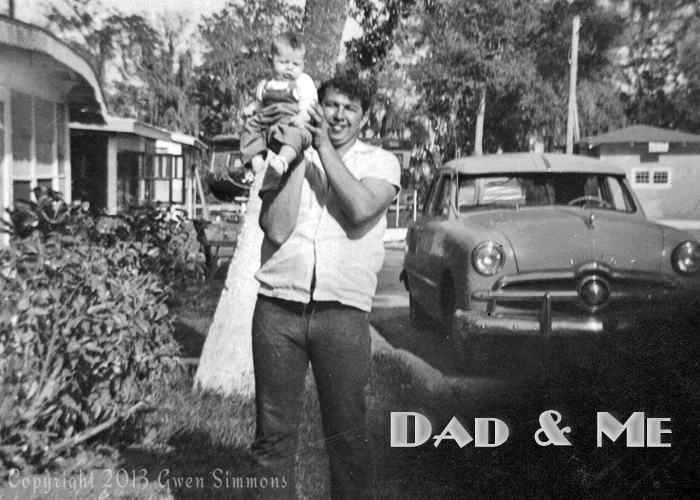 Dad and Me-- 1950s b&w photo