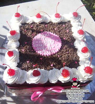Kue Tart Blackforest Pink Daerah Surabaya - Sidoarjo
