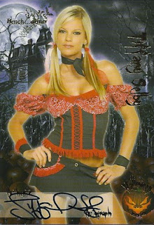 Tiffany Selby from Bench Warmer 2012 Halloween trading cards