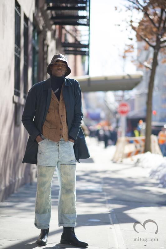 Len Burton wears RalphLauren during New York Fashion Week NYFW