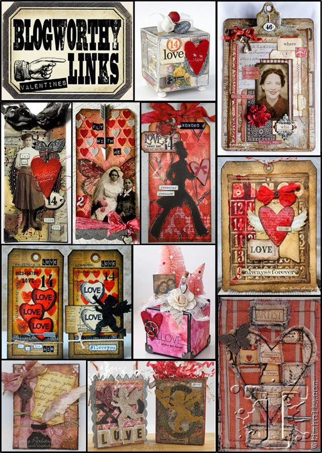So honoured to receive my 4th Blogworthy link from Tim Holtz ~ February 2015