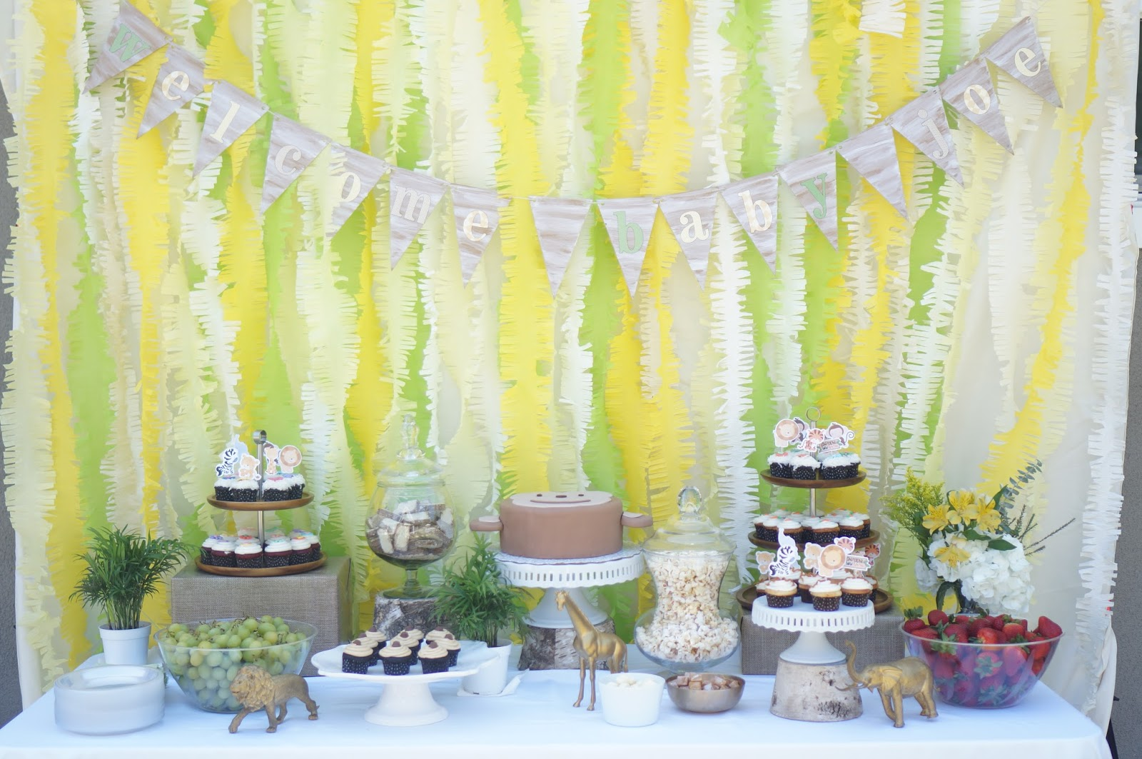 Rustic Jungle Animal Baby Shower