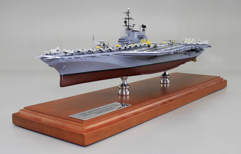 uss midway aircraft carrier model