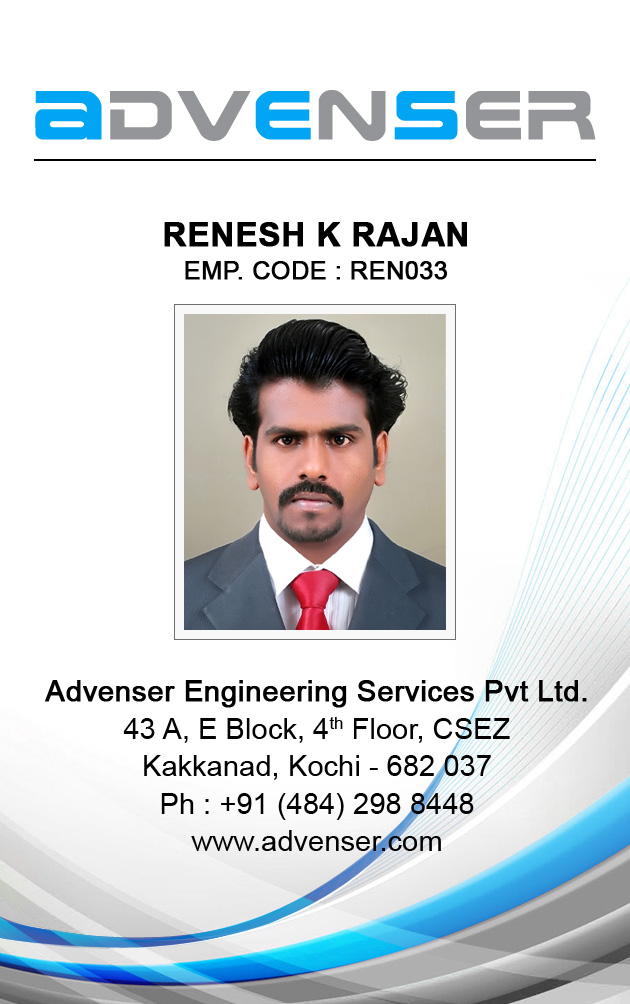 Renesh KR Freelance Web Designer Cochin Kerala India Employee - Card template free: employee id card template