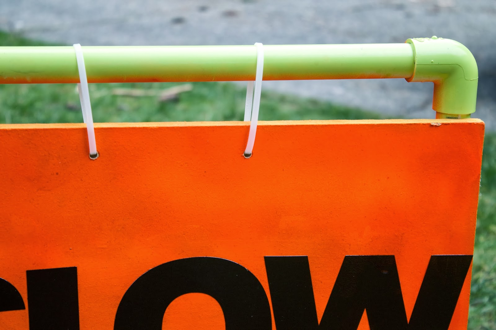 Sowdering about day the pvc pipe slow sign