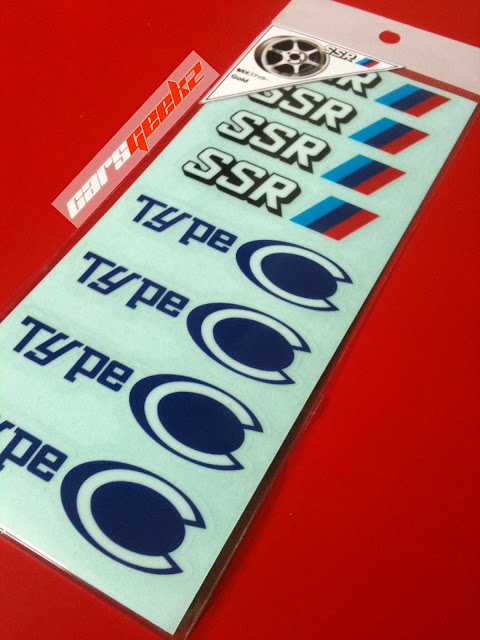 SSR Type C and Type C-RS - OEM Sticker / decal / vinyl
