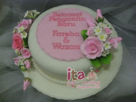 Gula Dan Mentega Hantaran Cake Fondant Gumpaste Flower