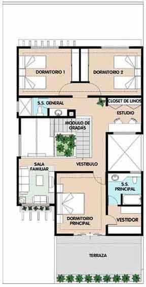 planos de casas habitacion 2 plantas