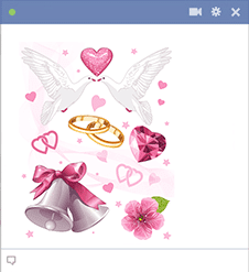 Bells, Rings, Doves Valentine Icons