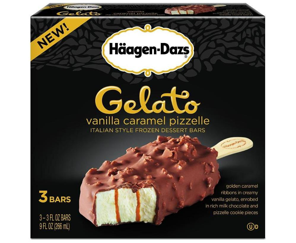News haagen dazs new gelato bars brand eating for Gelati haagen dazs