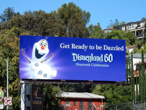 Disneyland 60 Frozen Olaf Snowman billboard