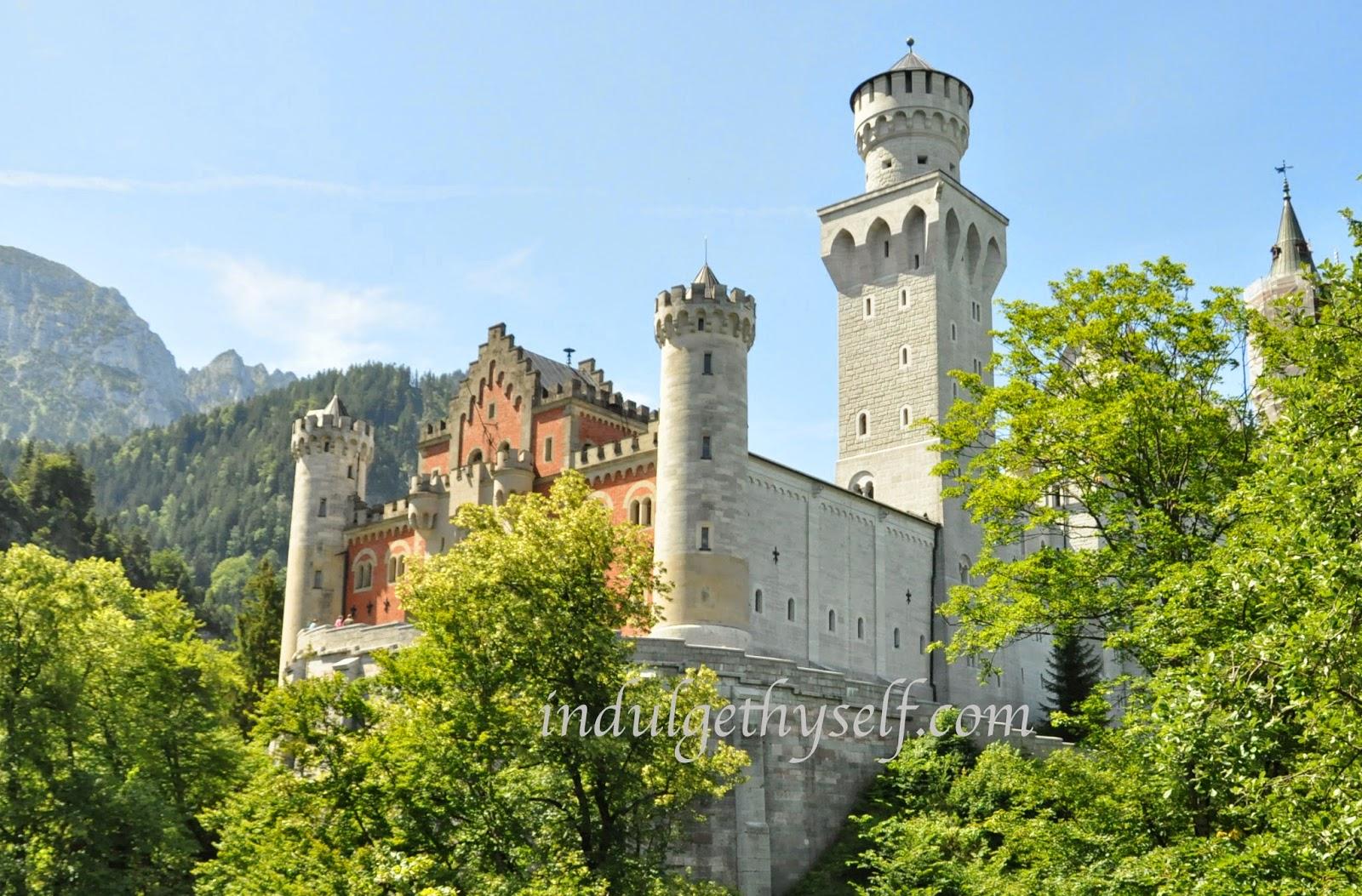 Neuschwanstein castle entrance gate facade