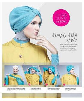 Gambar Tutorial Cara Memakai Hijab Modern Dan Modis