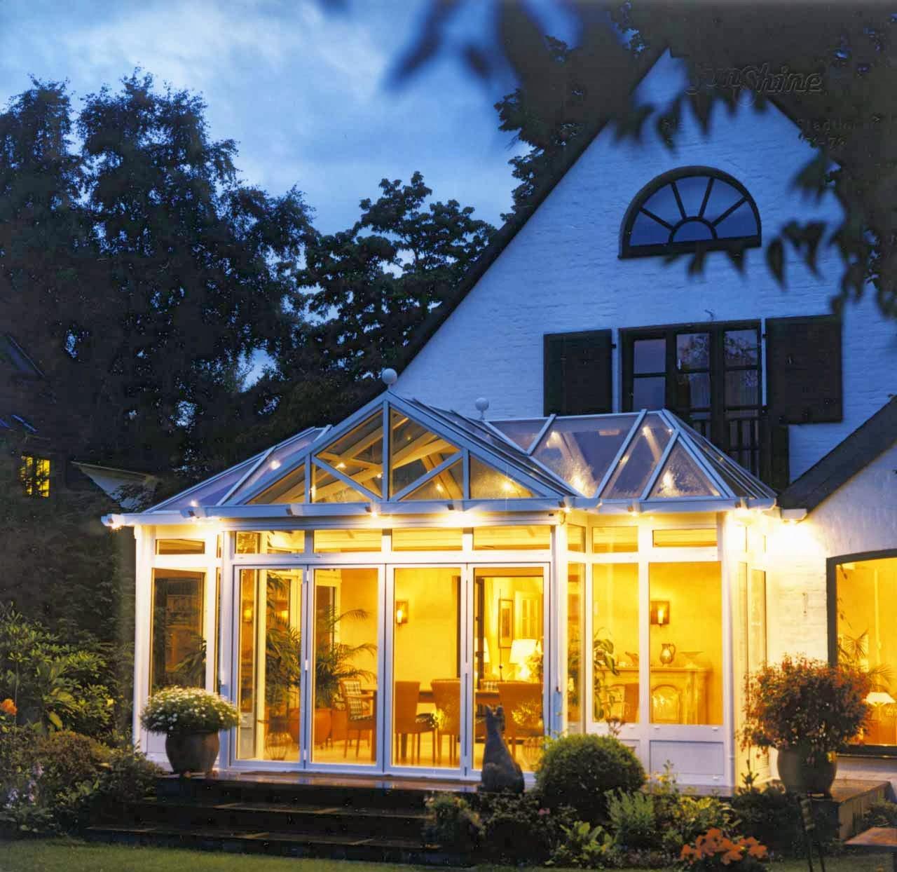 sunshine wintergarten stimmungsvolle beleuchtung im wintergarte. Black Bedroom Furniture Sets. Home Design Ideas