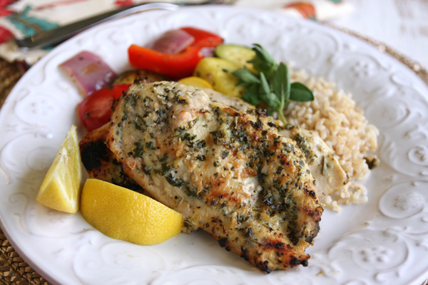 29. Lemon Garlic Herb-Rubbed Chicken