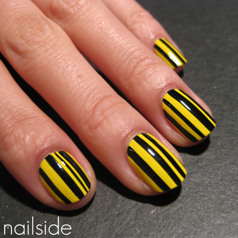 Hi Everyone For This Post I Have Another Striped Mani To Show You And It S Bright Not That My Last Wasn T Enough But Tonight Felt The
