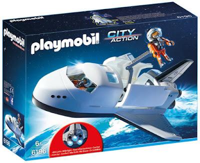 TOYS : JUGUETES - PLAYMOBIL City Action  6196 Transbordador Espacial | Space Shuttle  Producto Oficial 2016 | Piezas: 55 | Edad: +6 años  Comprar en Amazon España