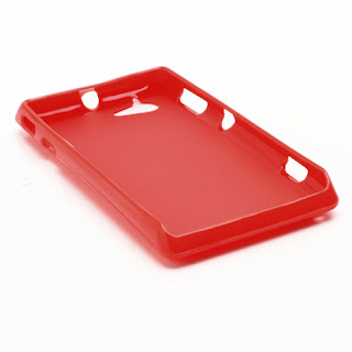 TPU Jelly Case Cover for Sony Xperia L S36h C2105 C2104 - Red