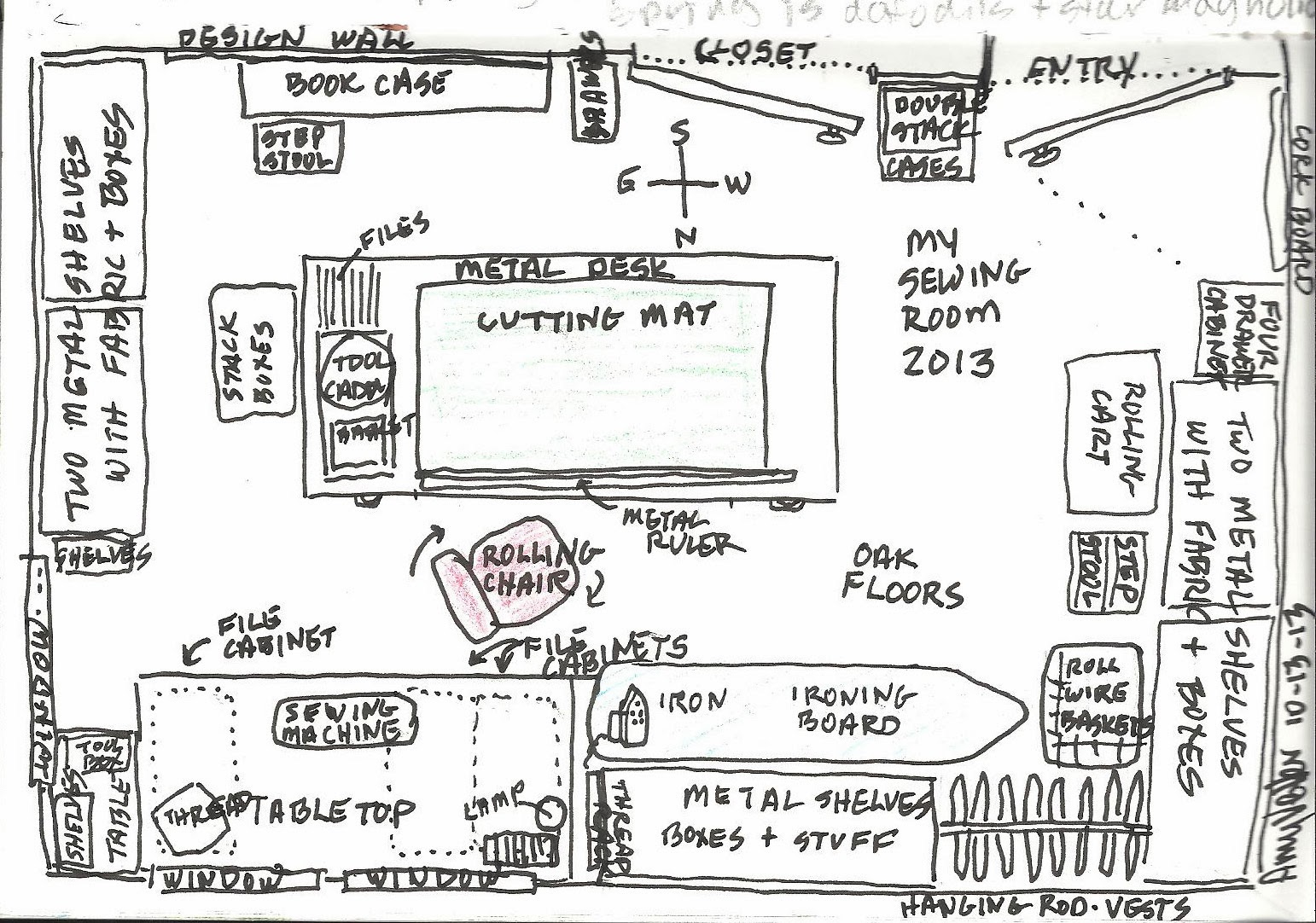 Amy 39 s etcetera sewing room diagram Room layout design online