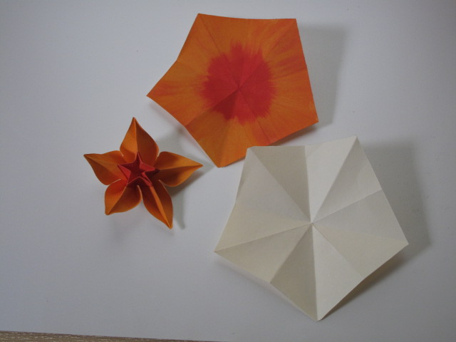 Just create every day painted origami carambola flowers after making the pentagon i painted the sheet with deltas paint for paper paint so far this is my best flower yet mightylinksfo